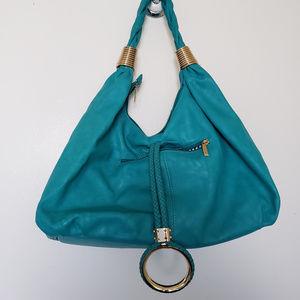 Turquoise Charming Charlie Hobo Bag